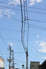 lines in the sky (Hayashina) Tags: japan murakami lines sky cables htt