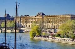 488 Paris en Mars 2019 - le Saule Pleureur de l'Île de la Cité, le Louvre et le Pont des Arts (paspog) Tags: paris france seine mars march märz 2019 quai saulepleureur îledelacité