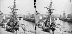 Morrison's Quay as none of us ever saw it! (National Library of Ireland on The Commons) Tags: thestereopairsphotographcollection lawrencecollection stereographicnegatives jamessimonton frederickhollandmares johnfortunelawrence williammervynlawrence nationallibraryofireland morrisonsquay corkcity countycork ships masts horse cart riverlee morrisonsisland unionquay ty