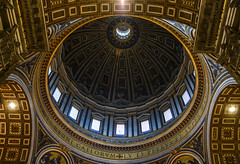 Dome of St. Peters Basilica in the Vatican (phuong.sg@gmail.com) Tags: ancient architecture art baroque basilica building cathedral catholic catholicism christian church city culture dome europe european exterior famous historical interior italian italy landmark monument old papal peter pietro pope religion religious renaissance roma roman rome saint san st statue town travel urban vatican view