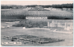 Physical Culture Display and The Massed Bands (pepandtim) Tags: postcard old early nostalgia nostalgic aldershot searchlight military tattoo 1894 1920s 1930s rushmore arena army show 2010 2012 garrison 2013 bombing 1972 ira physical culture display massed bands 44pcd33