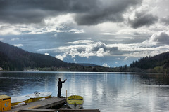 Gerardmer (denismartin) Tags: denismartin vosges vosgesmountains mountain lake lacdegerardmer gerardmer lorraine france nature reflection cloud sky boat weather fishing fisherman