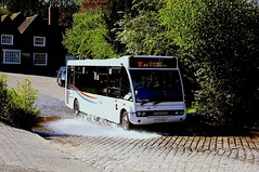 Making a splash at Kersey (Chris Baines) Tags: suffok norse optare solo yj55 bgu kersey 112 service from hadleigh sudbury