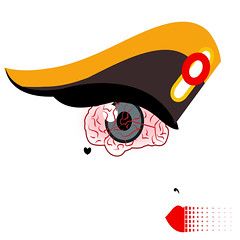 illustration of an eye in form of a brain (illustrationvintage) Tags: concept conceptual symbol creative mind abstract design human isolated graphic brainstorm medical medicine inspiration disease health icon knowledge planning computer learn connection digital thinking think network solution education art innovation business intelligence creativity science head technology illustration idea brain funny comic eye eyeball lips red face portrait communictaion