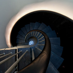 spiral in blue | Perthshire (Weir View) Tags: photo abstract intimatelandscape spiral staircase domestichome perthshire scotland blue