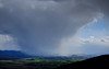 Rain storm over West Linton and Mendick Hill, from Carnethy Hill, Pentlands