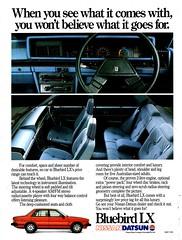 1983 Nissan Datsun Bluebird LX Sedan Aussie Original Magazine Advertisement (Darren Marlow) Tags: 1 3 8 9 19 83 1983 n nissan d datsun b bluebird l x lx s sedan c car cool collectible collectors classic a automobile v vehicle j jap japan japanese asian asia 80s