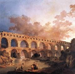 Le Pont du Gard (karadogansabri) Tags: hubertrobert robert tableau art painting pontdugard pont gard france ω