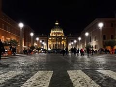 San Pietro of the night (Nabel Grant) Tags: sanpietro basilicasanpietro roma street night