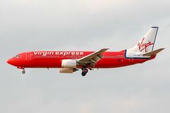 OO-VEK (PlanePixNase) Tags: aircraft airport planespotting bru ebbr brussels brüssel bruxelles zaventem boeing virgin express 737 b734 737400