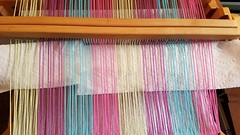Correct shed for steps 3, 5, and 8 for 3 shaft weaving on rh loom (Sweet Annie Woods) Tags: