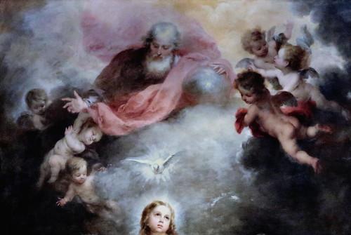 IMG_7964D Bartolome Esteban Murillo 1617-1682. Séville. Les Trinités Célestes et Terrestres The Heavenly and Earthly Trinities. vers 1680.  Londres. National Gallery
