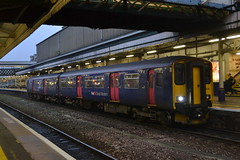 Great Western Railway Sprinter 150238 (Will Swain) Tags: exeter st davids station 15th november 2018 train trains rail railway railways transport travel uk britain vehicle vehicles england english europe south west city centre gwr class great western sprinter 150 238 150238