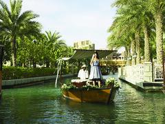 Water Taxi in Dubai (Michael Lloyd - Media Guy) Tags: michael lloyd watertaxi woman arabwoman luxuryliving dubai uae arabworld unitedarabemirates water palmtrees abras arabianwatertaxi arabian