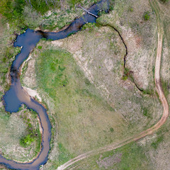 Curves (piotr_szymanek) Tags: drone landscape river water green grass road 1k 20f 5k