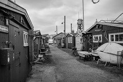 At The Port (graufuchs) Tags: denmark europe dänemark blackandwhite monochrome blackwhite fujifilm fujixh1 fujinon 23mmf2 town village port houses