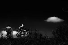 With a pigtail under the helmet (olegkulishov) Tags: спорт мотоцикл девушка bw