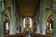 St Martin interior (Brett of Binnshire) Tags: furniture ceiling locationrecorded franconia germany bavaria church column vaulted forchheim architecture bayern on1raw