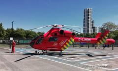 London Air Ambulance MD-900 ~ G-LNDN (© Freddie) Tags: london greenwich se10 northgreenwich eastgreenwich greenwichpeninsula glndn londonairambulance airambulance md900 helicopter chopper fjroll ©freddie huawei honor10lite smartphone