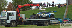 A rather short race... (ajh_1990) Tags: blancpain gt gt3 endurance series silverstone 2019 grand prix circuit sun sunny sunshine track car cars race racing pro am assetto corsa competizione sponsor pirelli garage 59 aston martin vantage come ledogar crash crashed accident incident hangar straight flatbed truck end