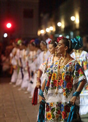 An Evening Celebration (peterkelly) Tags: digital canon 6d northamerica gadventures mayandiscovery mexico yucatán mérida plazagrande road street celebration dancer dancing dance traditional costume clothing dress woman colours colors color colour