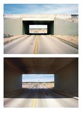 Moapa Highway Underpass (Christoph Schrief) Tags: moapa nevada valleyoffirehighway underpass diptychon leicam2 voigtländercolorskopar421 kodakportra160 dmentwicklung analog digitalprintscan