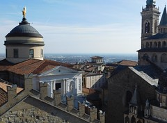View of Bergamo's Cathedral fron the top of the Campanone - Civic Tower 2 (litlesam1) Tags: churches italy2019 duepazziragazziamilano2019 march2019 bergamo