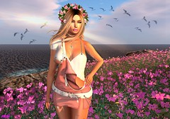 Flowers Are The Music Of The Earth (alexandra sunny) Tags: haveunequal it catwa maitreya aviglam prtty secondlife blog blogger fashion flowers woman female pink landscape
