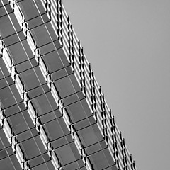the greater good (♫ marc_l'esperance) Tags: angled building geometry geometric abstract architectural abstraction minimal minimalist architecture modern design layers vintagelens manualphotography burnaby bc canada marclesperancephoto cml 2019 monochrome bw blackwhite blackandwhite