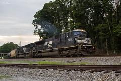 80s in Hiram (travisnewman100) Tags: norfolk southern ns train railroad freight unit ethanol emd sd80mac hiram georgia division atlanta north district 64g