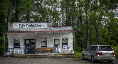 Cole's Country Store (donnieking1811) Tags: tennessee baxter colescountrystore building store porch signs rockingchairs bench automobile van exterior outdoors trees sky hdr canon 60d lightroom photomatixpro restaurant