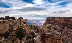 Small View To A Big World (Timothy S. Photography) Tags: arizona grandcanyon hikersview cloudyphotography cloudyday hiking canyon godsview whataview