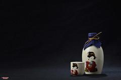 Saki (MBates Foto) Tags: beverage black blue bottle color foodandbeverage indoors nikkorlens nikon nikonais nikond810 nikonfx red saki studio winesandspirits spokane washington unitedstates