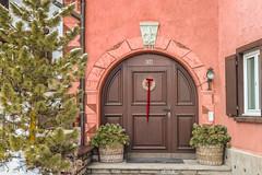Celerina Home (Iosif Trif) Tags: switzerland swiss house home urban travel schweiz suisse pink door winter graubunden