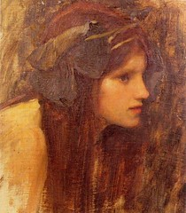 'A Naiad' (Study) John William Waterhouse, 1893 (karadogansabri) Tags: johnwilliamwaterhouse 1800s 1900s art paintings preraphaelite 1893 anaiad