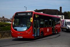 Go-ahead London WS12 on Route 163, Lower Morden (e400olympus) Tags: goahead london ws12 lj13gjx wright wrightbus streetlite