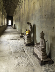 Angkor Temple Hall (oldbourbonguy) Tags: angkorwat cambodia siemreap vacation siemreapprovince hallway temple
