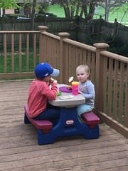 """Paul and Dani Eat on the Deck • <a style=""""font-size:0.8em;"""" href=""""http://www.flickr.com/photos/109120354@N07/40890414293/"""" target=""""_blank"""">View on Flickr</a>"""