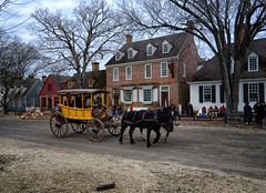 Horse and Carriage in Williamsburg, Virginia (` Toshio ') Tags: toshio williamsburg virginia colonialwilliamsburg colonial horse carriage historic usa america road trees