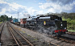 Great Central Railway Swithland Leicestershire 11th May 2019 (loose_grip_99) Tags: greatcentral railway railroad rail train swithland sidings gcr leicestershire eastmidlands england uk steam engine locomotive transportation preservation goods galore lms stanier 8f 280 45305 gassteam uksteam footplate trains railways may 2019 exworks