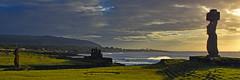 Sunset at Ahu Tahai, Easter Island (Rapa Nui: Rapa Nui, Spanish: Isla de Pascua) (David D Moore) Tags: easterisland rapanui isladepascua moai ahutongariki ranoraraku anakena ahuakivi theseven birdmancult birdman birdmen orongo ahutahai koteriku tahai vaiure ranokau polynesia chile