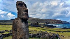 Moai, Ahu Tongariki, Easter Island (David D Moore) Tags: easterisland rapanui isladepascua moai ahutongariki ranoraraku anakena ahuakivi theseven birdmancult birdman birdmen orongo ahutahai koteriku tahai vaiure ranokau polynesia chile