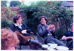 Relaxing in an Oxford Garden (pepandtim) Tags: postcard old early nostalgia nostalgic 38rel49 relaxing oxford garden 1970