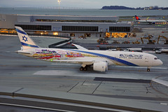 4X-EDD (Rich Snyder--Jetarazzi Photography) Tags: elalisraelairlines elal ely ly boeing 787 7879 dreamliner b787 b789 4xedd speciallivery specialscheme departure departing sanfranciscointernationalairport sfo ksfo millbrae california ca airplane airliner aircraft jet plane jetliner ramptowera rcta atower