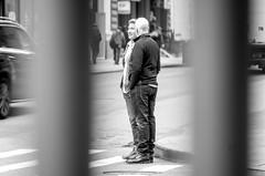 Friends! View behind bars... (Capitancapitan) Tags: neury luciano el mundo gira urim y tumim pop rock black white new york city manhattan people iphone apple walk taxi tv radio instagram facebook cantautor bachata