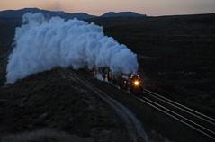 Marching up Peru Hill under cover of darkness (Moffat Road) Tags: unionpacific up bigboy steam smoke peruhill steamlocomotive train railroad dawn darkness night upevanstonsub locomotive peru wyoming wy