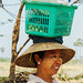 Burmese Woman With Basket on Head, Myanmar