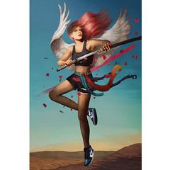 Process (Nathaly Cuervo R) Tags: fine art painting nike air jordan angel sneakers jump nathaly cuervo
