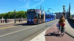Museumtram (Peter ( phonepics only) Eijkman) Tags: amsterdam city combino gvb tram transport tramtracks trams trolley rail rails streetcars strassenbahn nederland netherlands nederlandse noordholland holland