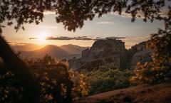 Meteora (AlexanderHorn) Tags: greece europe landscape sunset sunshine mountains magical beautiful trees nature world earth